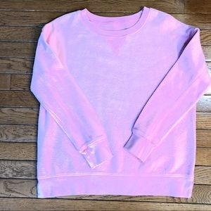 NEW American Eagle Inside-Out Sweatshirt Pink Sz M